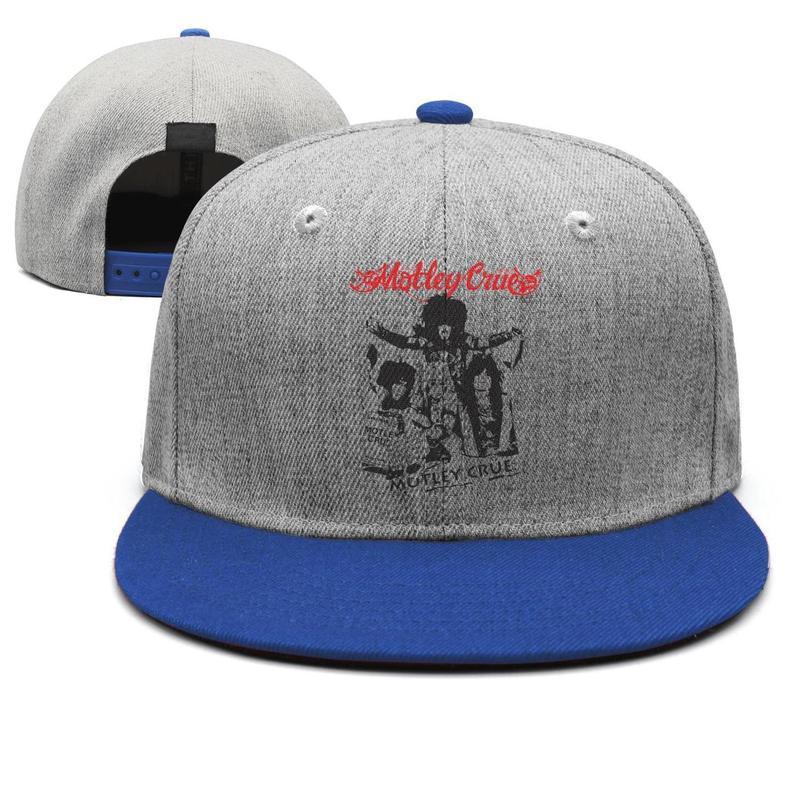 a7c6f8583 Motley Crue Art mens guys snapback hat cool adjustable women s fishing cap  Hipster trucker cap mesh fishing hats