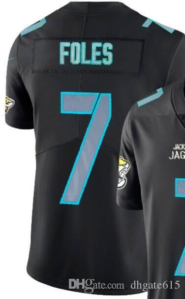 on sale 0e8a7 ecdd8 Man Jacksonville 7 Jersey Men Shirts Adult Embroidery and 100% stitched  Impact Black Color Rush Limited American Football jerseys