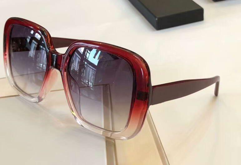 76ed694695 8001 Square Sunglasses Red Clelar Frame Sun Glasses Gafas De Sol ...