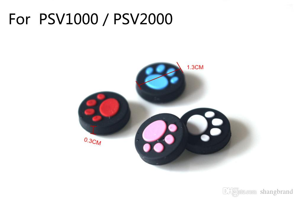 4 colores para PSV1000 / PSV2000 Cat Claw Goma de silicona Joystick Cap Thumb Stick Grip Grips Caps