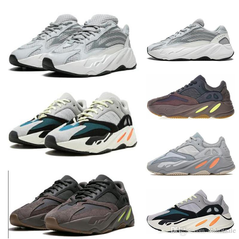 the latest 5cfda 989ef Adidas yeezy 700 Venta al por mayor 700 Runner Kanye West Mauve Wave Runner  Static Zapatos para correr 700 V2 Hombres Mujeres Athletic Sport Sneakers  ...