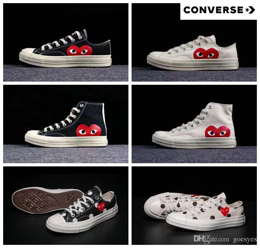 2019 New 1970s Canvas Skate Shoes Originals Classic 1970 Canvas Shoes Jointly Name CDG Play Big Eyes skateboard Casual Sneakers 5-10