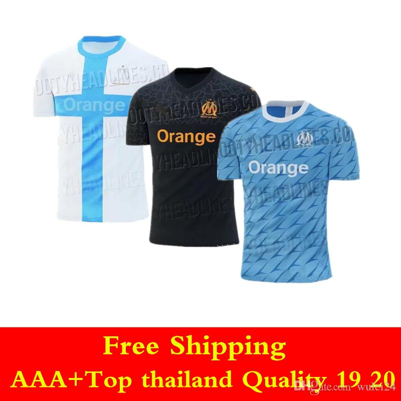 newest 676b3 10890 19 20 Olympique de Marseille jersey 2019 2020 home Maillot De Foot PAYET  L.GUSTAVO THAUVIN AWAY Third shirts Mario Balotelli soccer jerseys