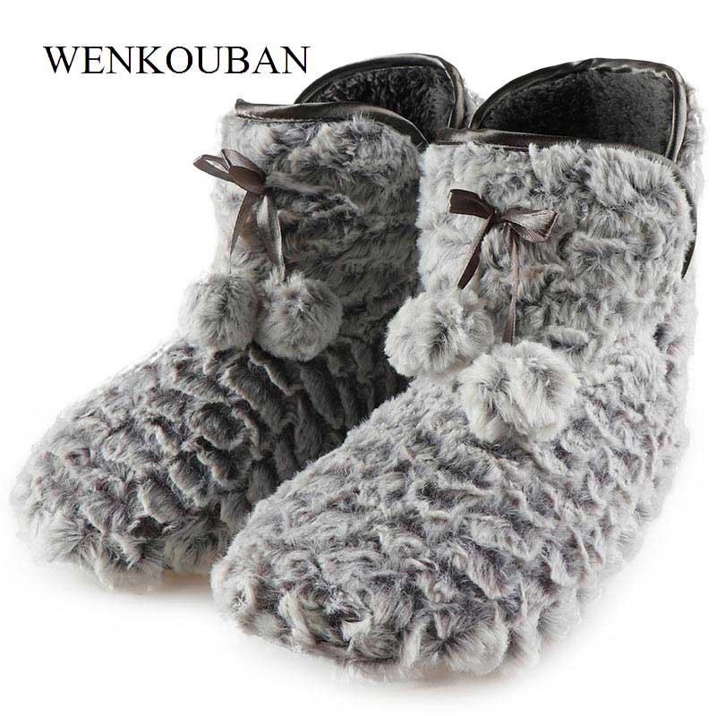 dfdcd7795601 2018 Winter Slippers Woman House Slippers Christmas Indoor Socks ...