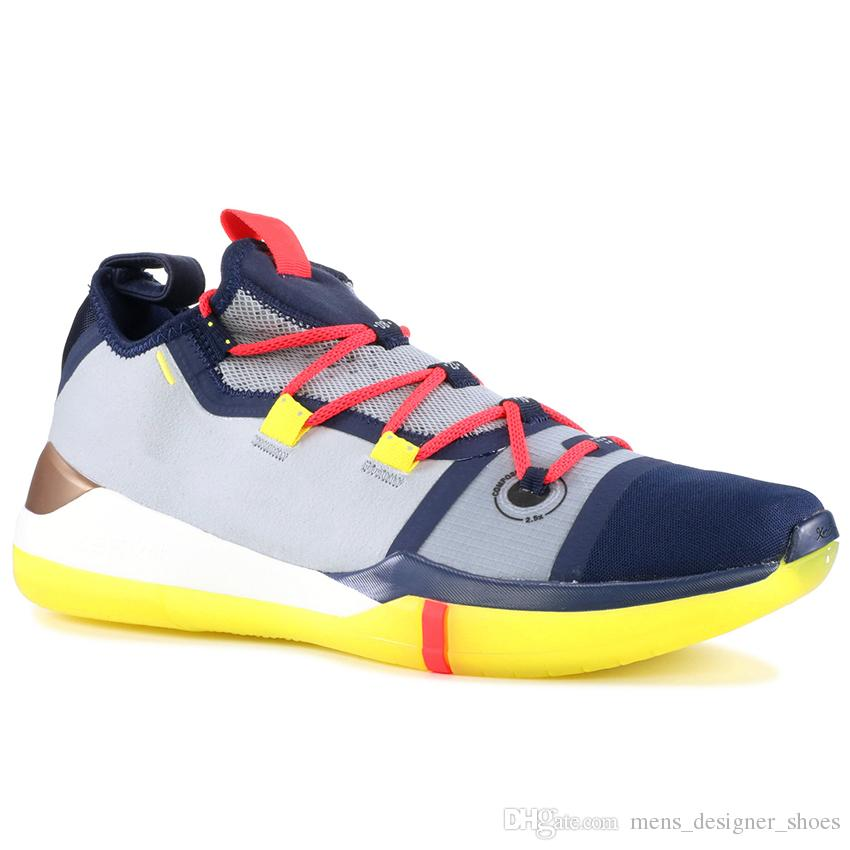 f5b10a753c2 2019 Kobe AD EP Sail Black Multi Color Mens Basketball Shoes Best Quality  Mamba Day Trainers Sports Sneakers Size 40 46 From Mens designer shoes