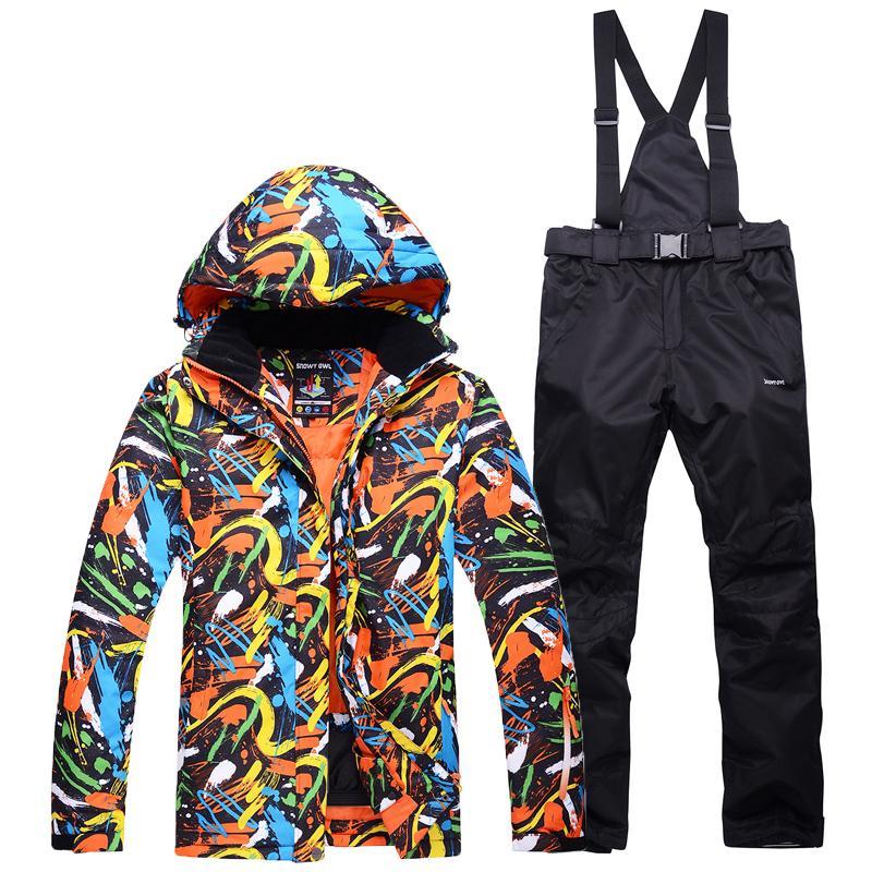cf082b17 -30 deportes al aire libre Trajes de esquí para hombre conjuntos trajes de  snowboard impermeables gruesos trajes de invierno para la nieve conjuntos  ...
