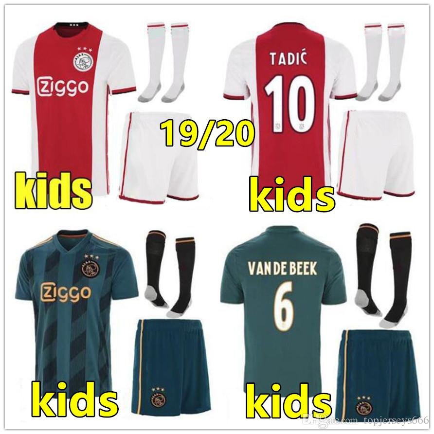 2d605fbb5 2019 2019 2020 Ajax Voetbalshirts Kind Soccer Jersey Kids 2019 2020 Football  Kits 19 20 TADIC VAN DE BEEK ZIYECH NOURI NERES Ajax Kids Shirt From ...