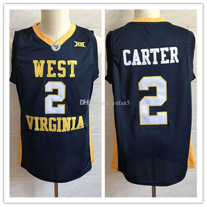 low priced b02df 3a5fe #2 Jevon Carter West Virginia Mountaineers College Retro Classic Basketball  Jersey Mens Stitched Custom Number and name Jerseys