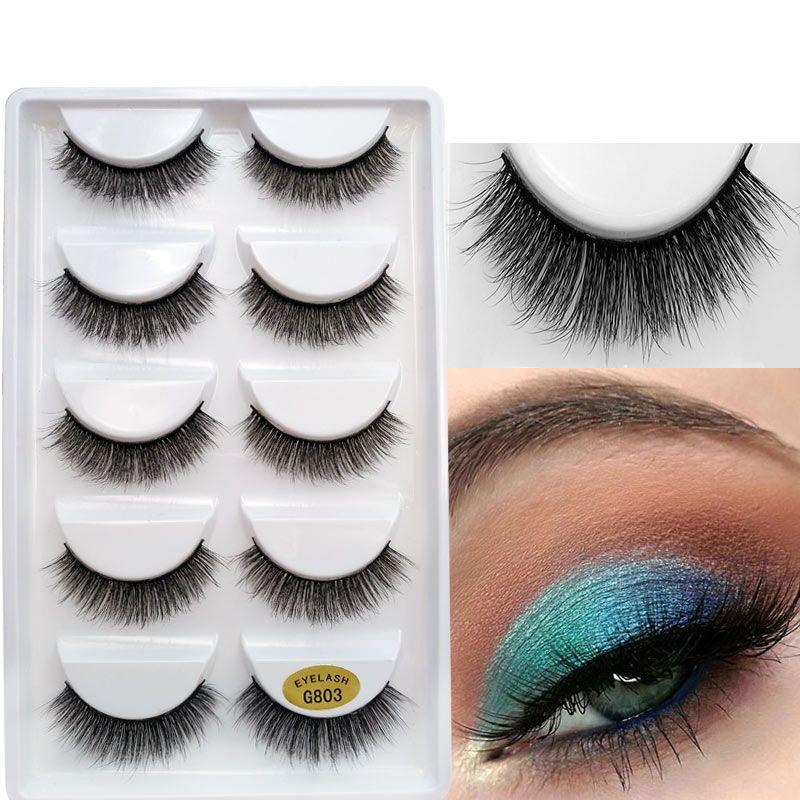 b2c19bd95bc 2019 New 3D Mink Reusable False Eyelashes 100% Real Siberian 3D Mink Hair  Strip False Eyelash Makeup Long Individual Eyelashes Mink Lashes Eyelash ...