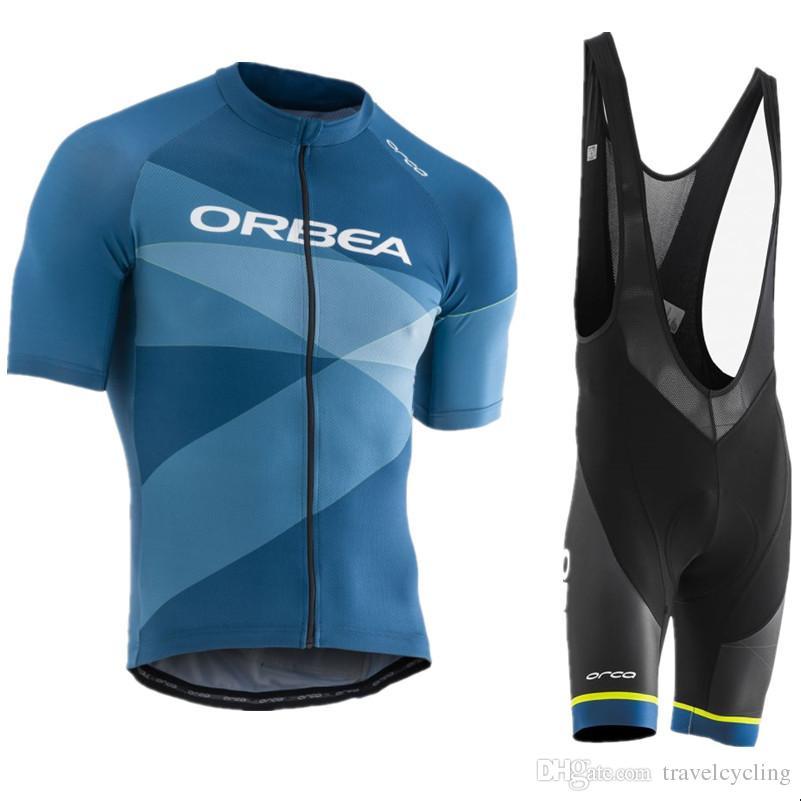 Hombres Ciclismo Jersey Establece 2019 Orbea Pro Team Hombres Ropa De  Bicicleta De Montaña De Manga Corta Ropa Deportiva De Bicicleta Uniformes  Ropa ... a4bd25206e51e