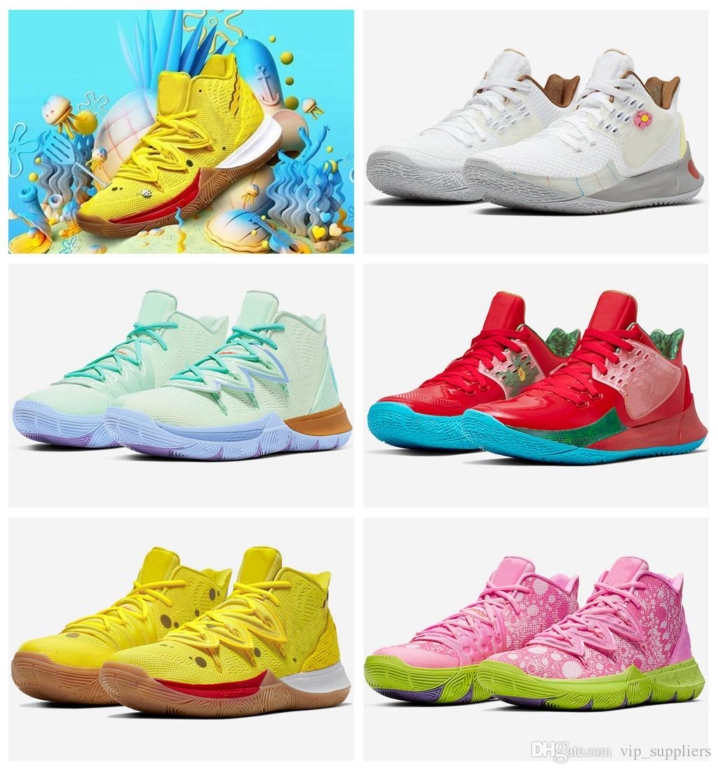 2019 New Arrival Mens Kyrie Shoes TV PE Basketball Shoes 5 For Cheap 20th Anniversary Sponge x Irving 5s V Five Luxury Sneakers