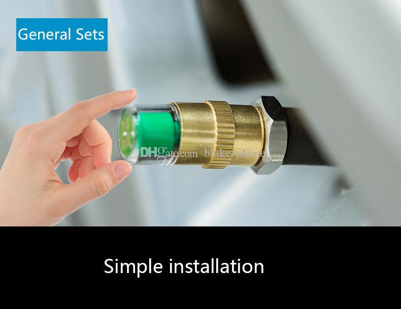/ set antifurto 2,4 bar Car Tyre Pressure Monitor universale Tyre Monitoring Tools accurata visualizzazione di valvola della gomma cap sensore Kit