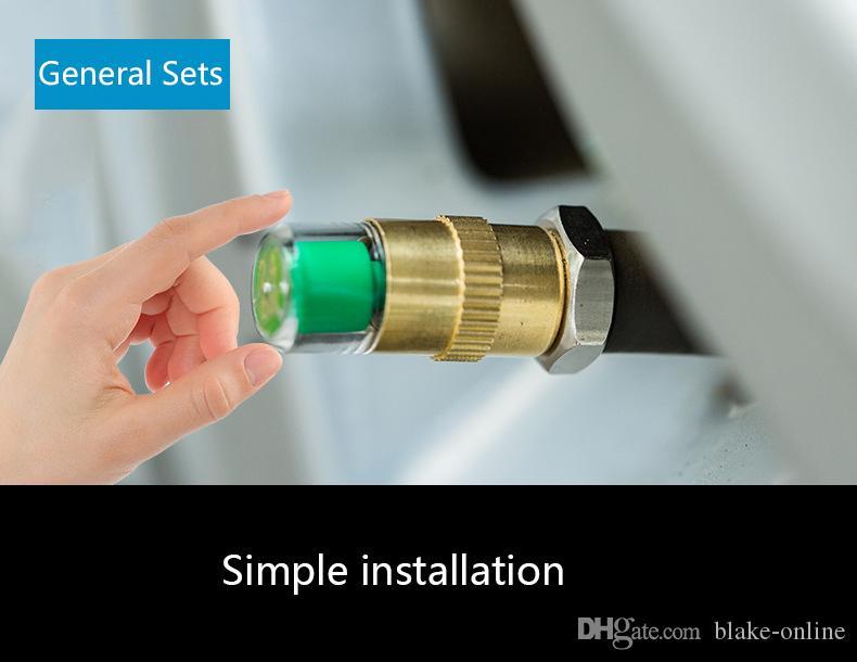 DHL antifurto Car Tyre Pressure Monitor 2.4 Bar Tipo di protezioni della valvola attrezzi diagnostici universali precisa indicazione di valvola della gomma cap sensore Kit