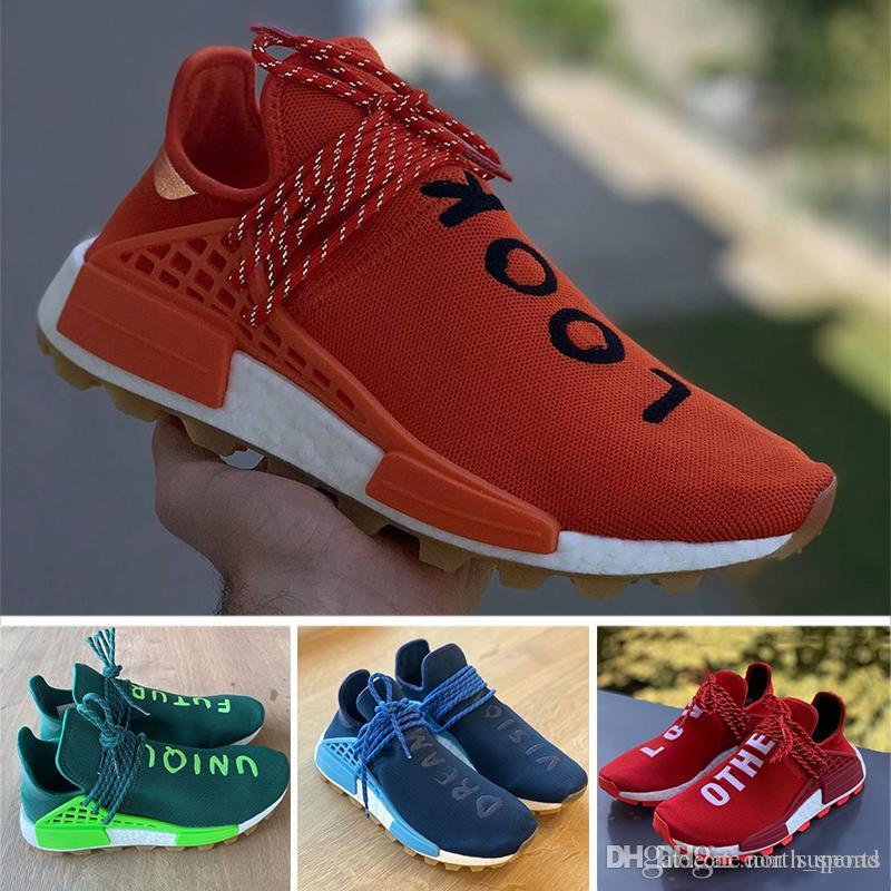 Look Within NMD Human Race trail Mens Running Shoes Love Other Unique Future Dreams Vision Men Women Pharrell Williams HU sports sneakers