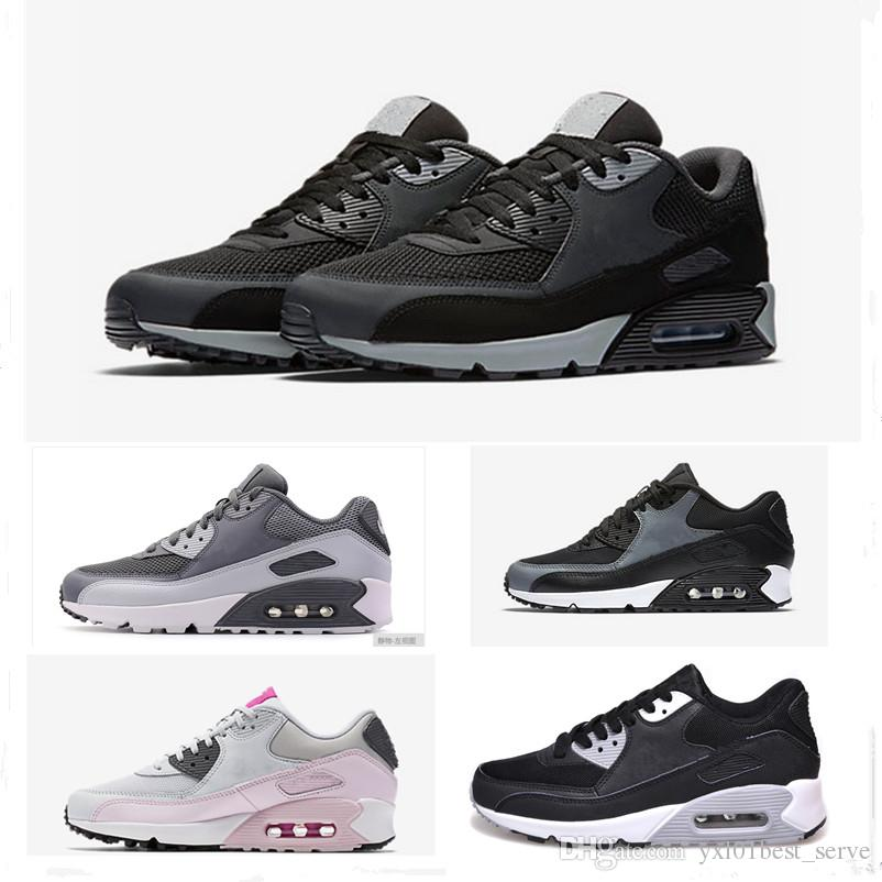 c9d788b66e1 2019 Cheap Sale M 90 Wheat Triple Black Grey Pink Fashion Running Shoes for Men  Women High Quality 90s Outdoors Sports Sneakers 36-45 90s 90 Running Shoes  ...