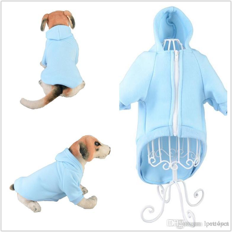 F16 pet dog zipper hoodies summer cotton sweatshirt for dogs cute dog clothing dog clothes 2019 new style