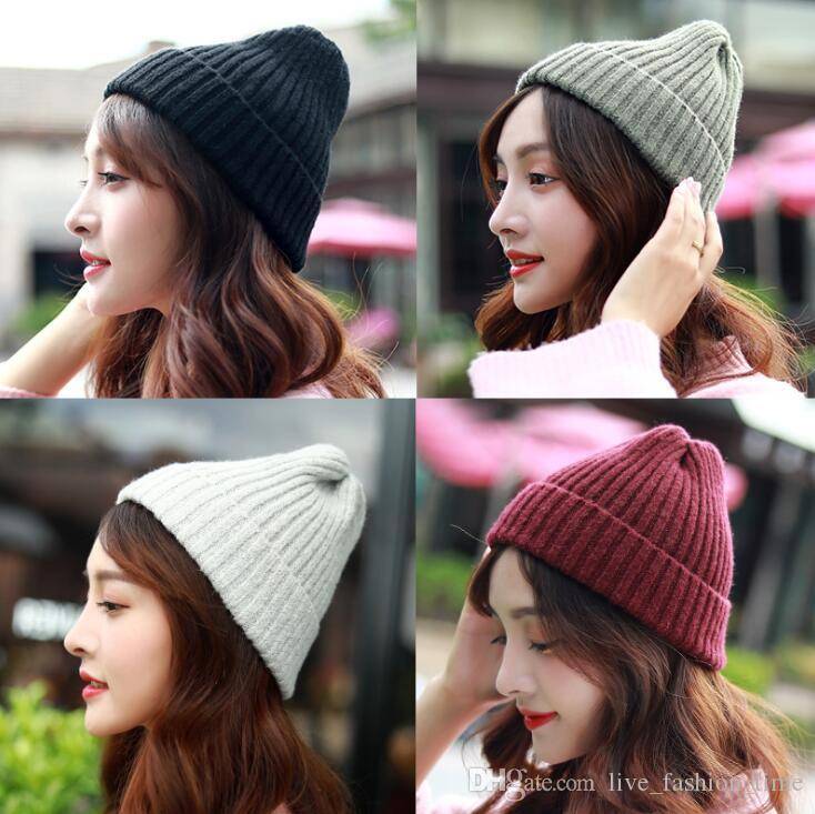 b392fee134380 Drop Shipping 2018 Seal Beanies Winter Hats For Women Slouchy Knitted Hat  Warm Baggy Stretch Knit Chunky Cable Beanie Skullies Ski Cap Femme Women  Hats Cool ...