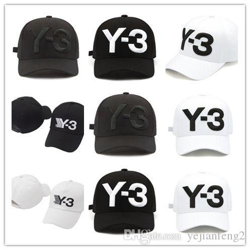 376446cada3 Top Selling Y 3 Dad Hat Big Bold Embroidered Logo Baseball Caps Adjustable  Strapback Hats Y3 Bone Snapback Sports Fitted Caps Black Baseball Cap From  ...