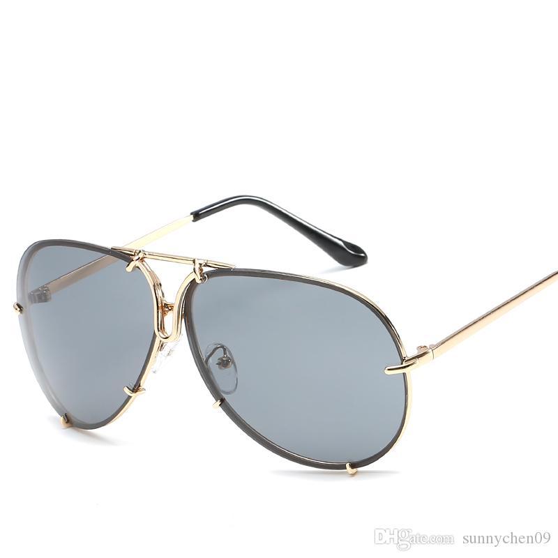 f31bc55950fbc Compre Mais Novo Óculos De Sol Polarizados Homens Aviação Condução Máscaras Feminino  Óculos De Sol Para Homens Retro Barato 2019 Marca De Luxo Designer De ...