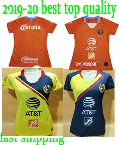 wholesale dealer f74cf 319a8 New 2018 2019 club america women Soccer Jersey 18 19 Liga MX 3rd best  quality female football shirts