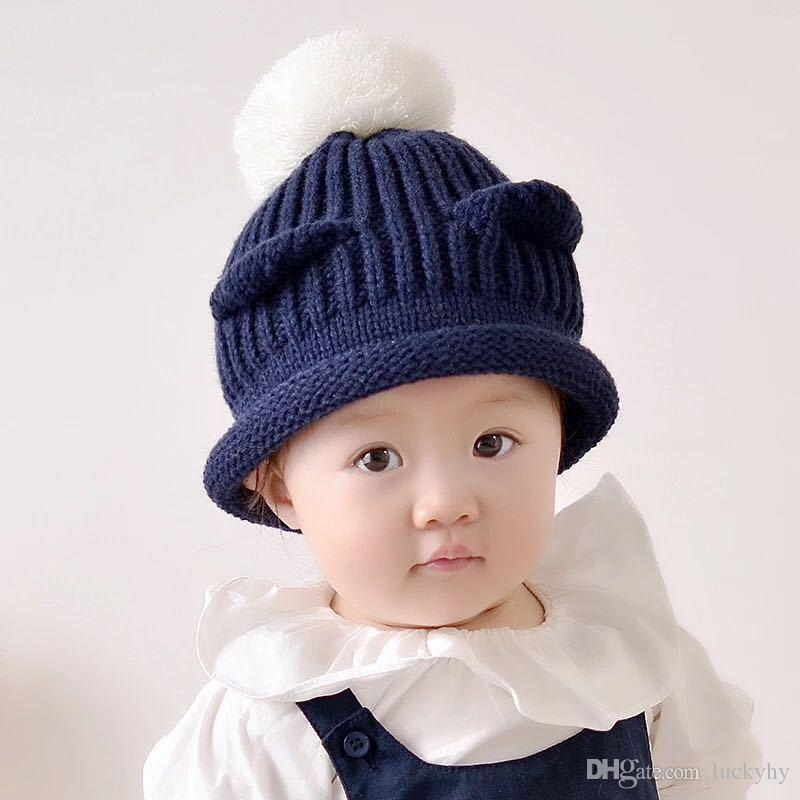 2019 Christmas New Fashion Knit Hat Female Hat Female Winter Korean Version  Sweet Cute Wild Plus Velvet Wool Hat Japanese Ear Protection Fashion From  ... 09300e8a65ae