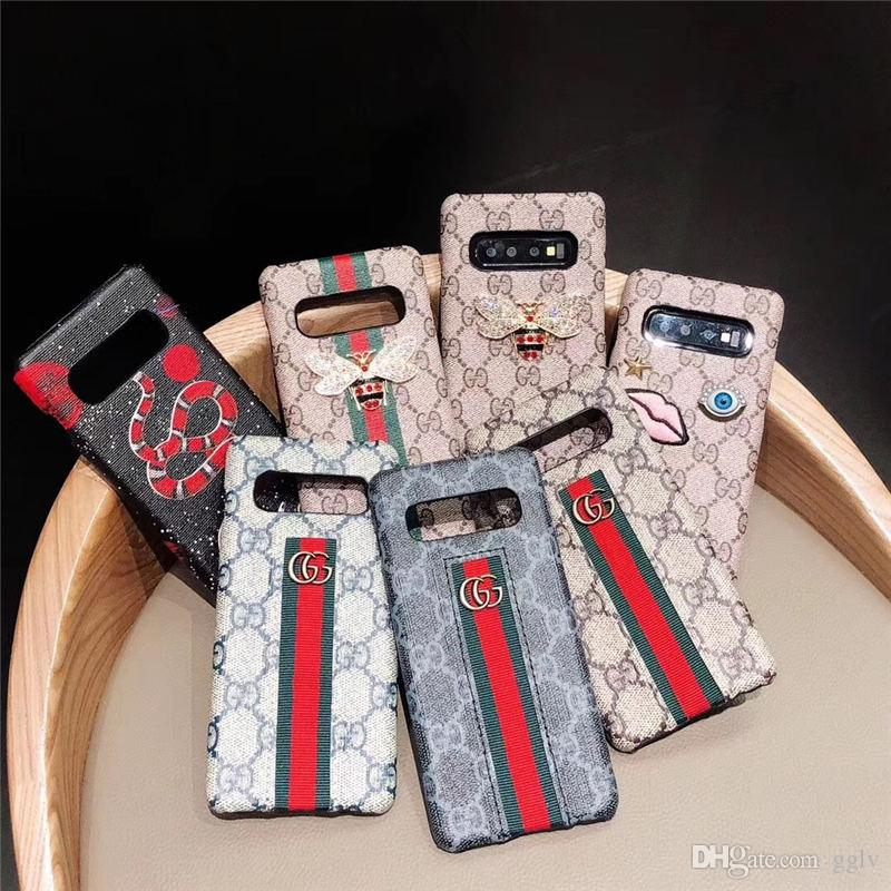 For Iphone Xr Xs Max 6 7 8 X Plus Luxury Snake Bee Cell Phone Case leatehr embroidery Phone Cases for galaxy s10 s10p s8 s9 plus note8 9