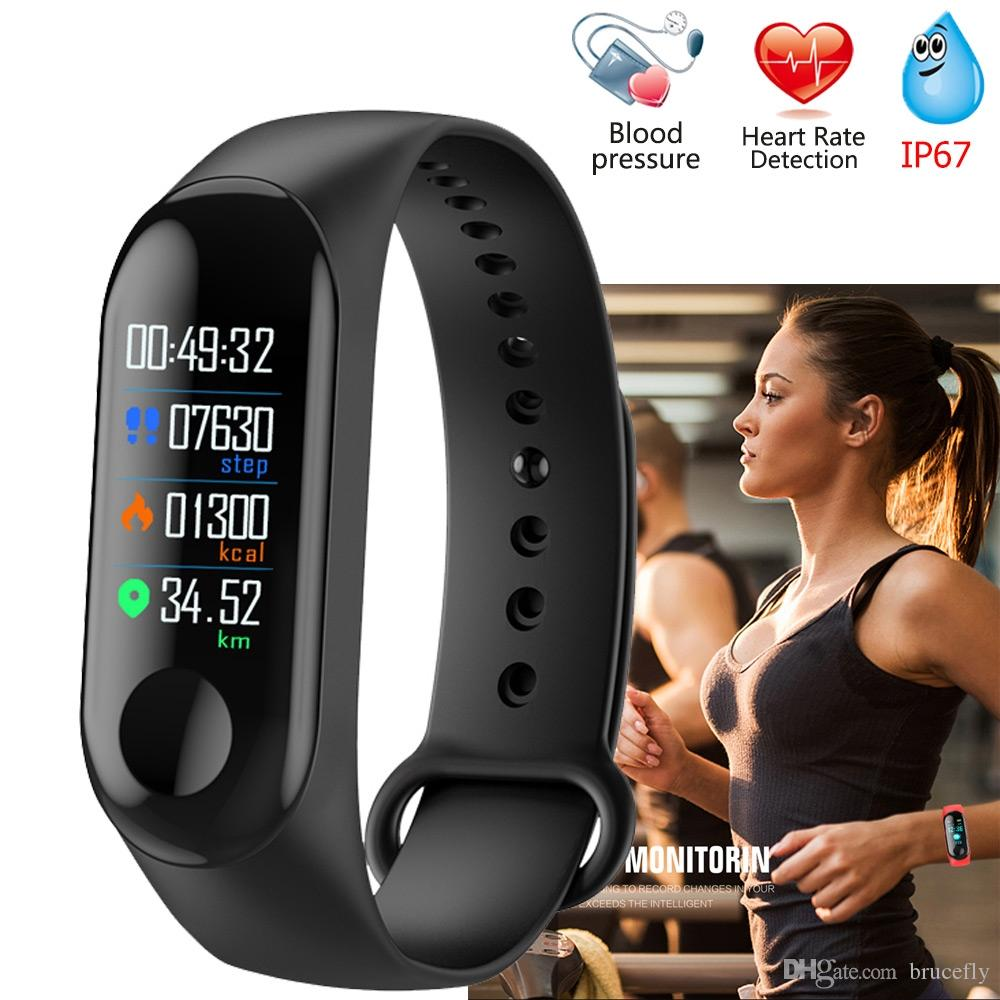M3 Smart Bracelet Blood Pressure Measurement Watch Gps Heart Rate Monitor Fitness Band With Watch For Men Women M3 Wristbands