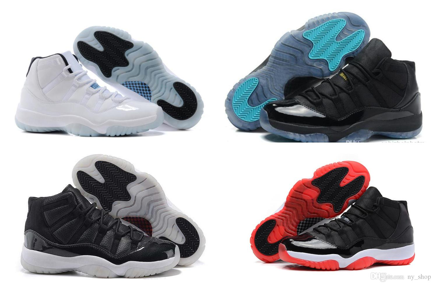 quality design 6dd8a 391d3 New Stylish 11 11s Gamma Blue Bred Concord Space Jam Infrared Georgetown  Varsity Red Gym Red 11s Shoes For Men Women With Box