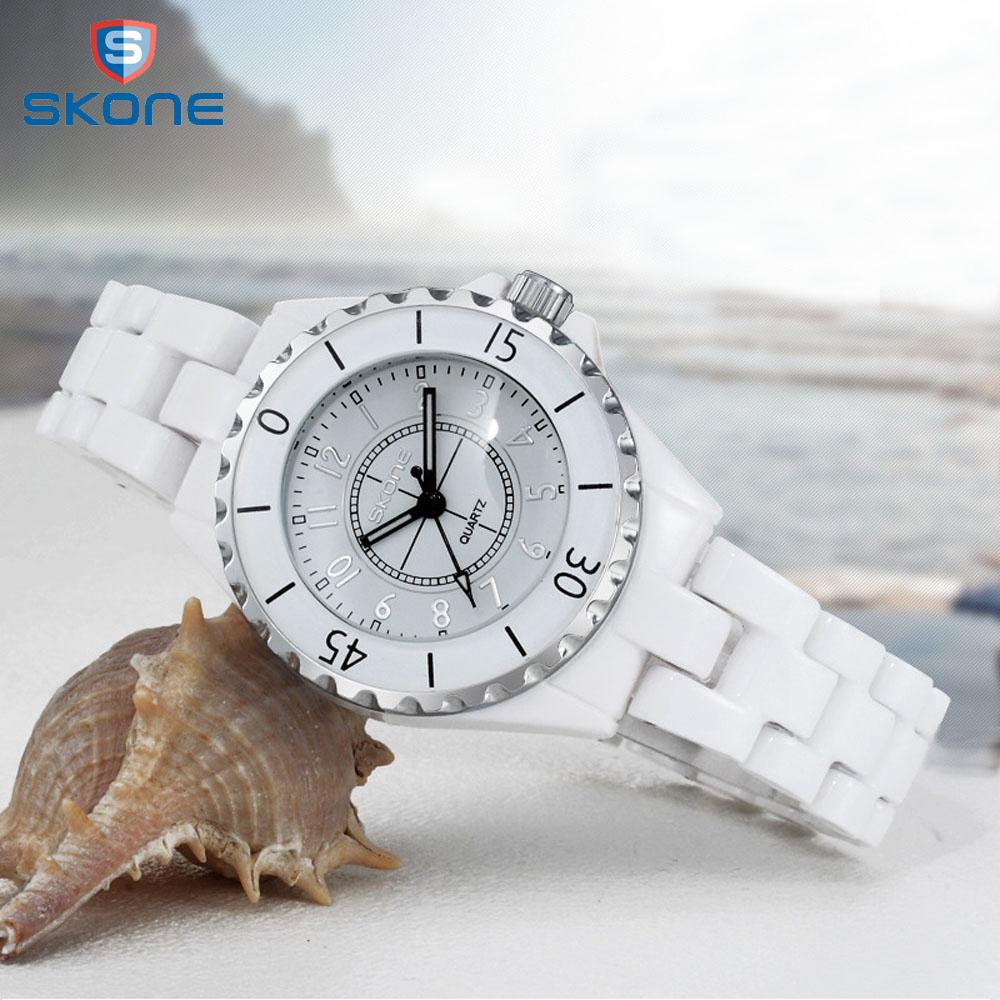 b8b7334f7 Ladies Watch Skone Top Brand New Fashion Women Analog Quartz Watch Female  Ceramic Wrist Watches Women's Clock Relojes Mujer J190507