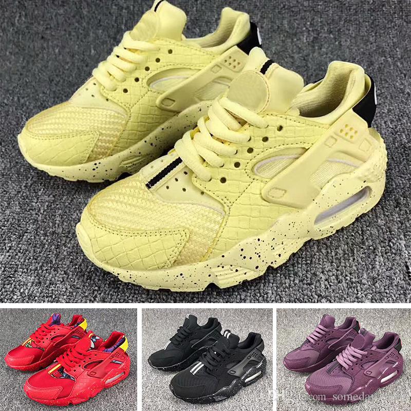 6584903ea28e 2018 Air Huarache Infant Running Shoes Kids Sports White Children ...