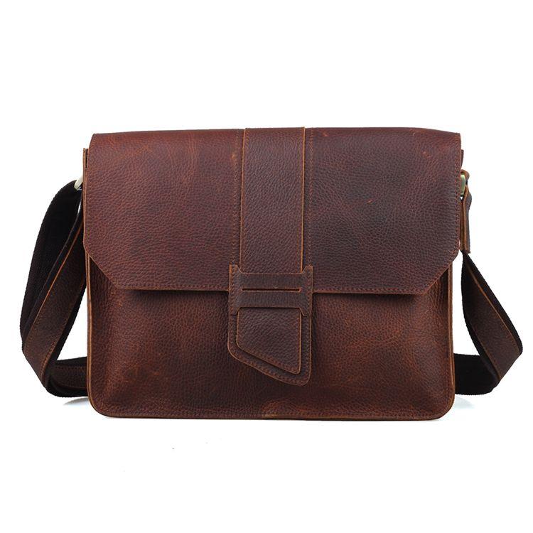 78f8d0b06783 Custom Mens Shoulder Messenger Bags Genuine Leather Satchel Bag ...