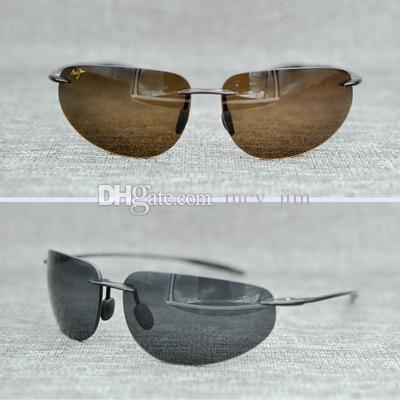 f10d719c6df Brand Designer Maui Jim Sunglasses Mj424 Rimless 424 Uv Protection Luxury  Men Women Driving Outdoor Polarized Sunglasses With Mj Case Prescription ...