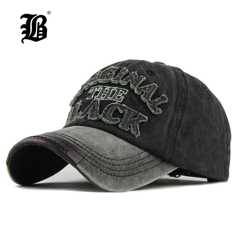 d28d992ea8b540 flb Hot Retro Washed Baseball Fitted Snapback Hat For Men Bone Women Gorras  Casual Casquette Letter Black Cap F122 C19041001 Custom Baseball Hats Army  Hats ...