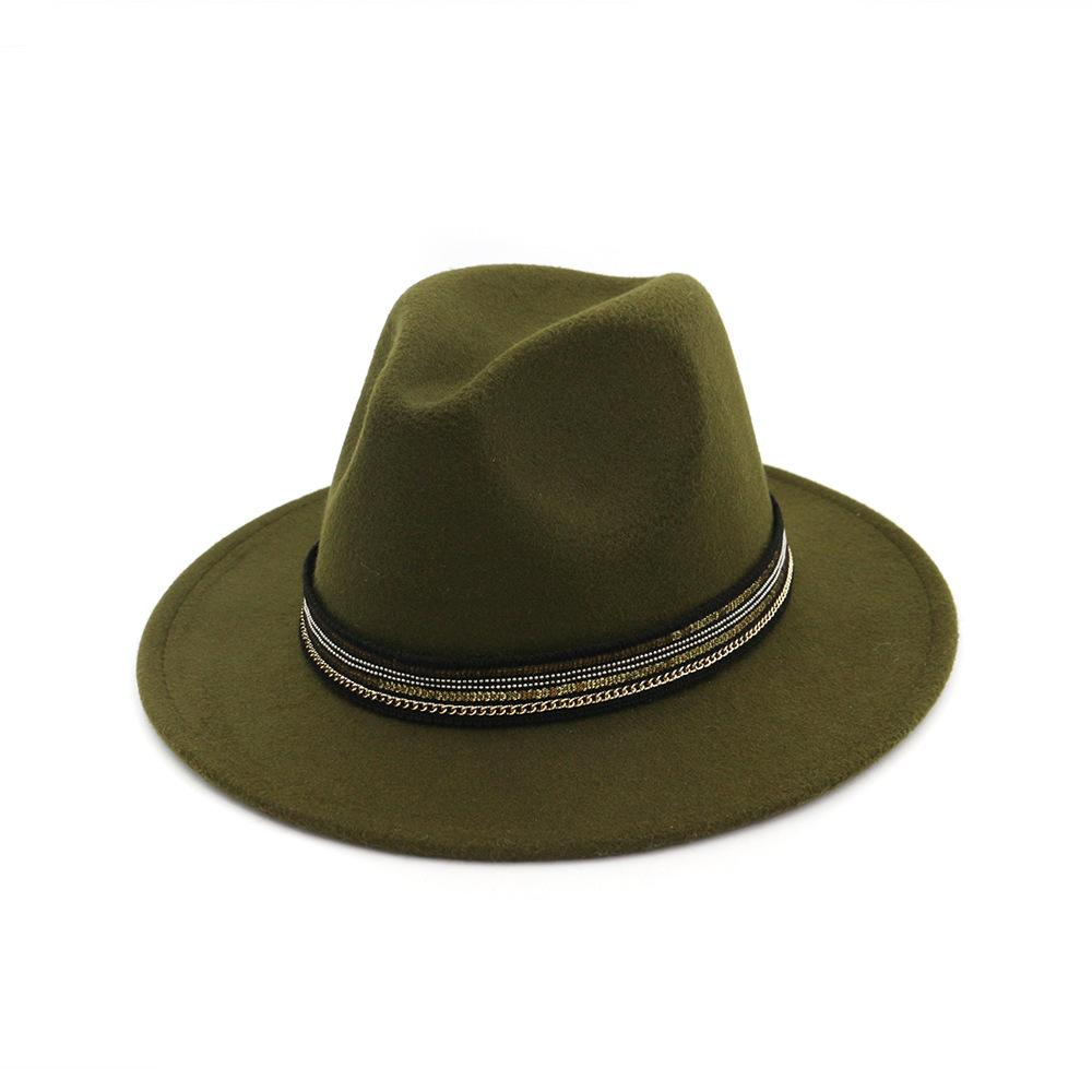 Zgllywr Wool Wide Brim Fedora Pure Felt Bowler Dome Bucket Hat For Women  British Style Feminino Jazz Church Vintage Women Men D19011102 Kids Hats  Wide Brim ... 236decb8f943