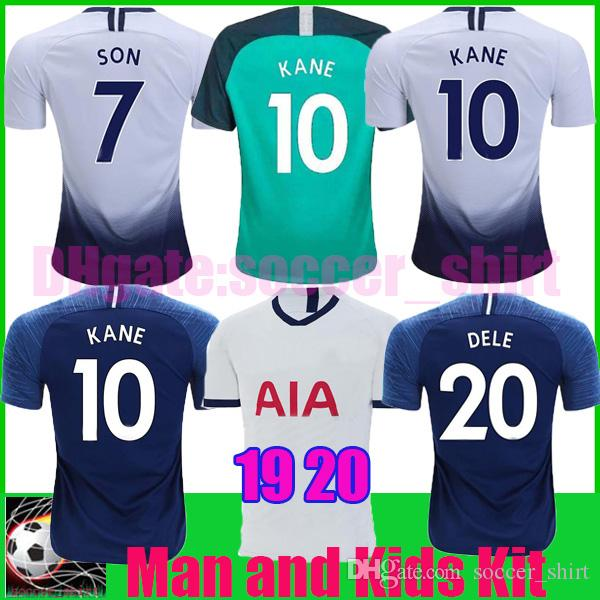 watch bbf97 e9d65 Thailand KANE spurs Soccer Jersey 18 19 20 LUCAS ERIKSEN DELE SON Soccer  Shirt 2018 2019 2020 Football shirt Men and KIDS KIT SET uniform