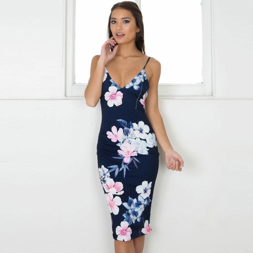 ca9ff786d Compre Moda Mujer Sexy Backless Imprimir Tight Lindo Vestido Sexy Roupa  Feminina Moda Vestido Festa Vestidos De Renda Lindo Elbise A  27.38 Del  Jincaile01 ...