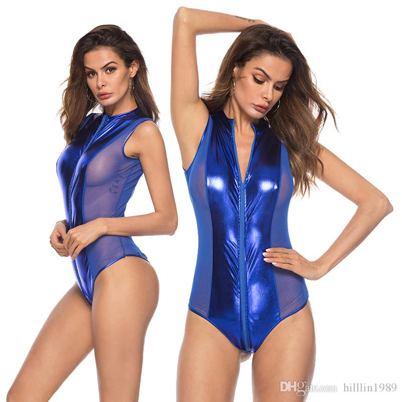2019 Steampunk Sexy Catsuit Costume Erotic Night Club PVC Jumpsuit Faux  Leather Party Fetish Pole Dance Bodysuit From Hilllin1989 56c47464c