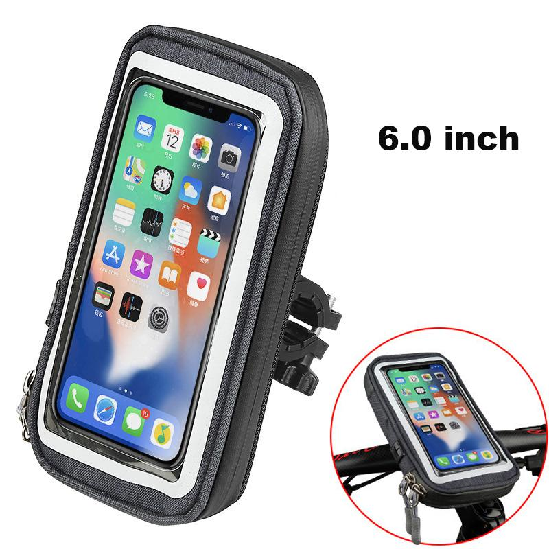 Bicycle Bag 6.0 inch Waterproof Touch Screen MTB Frame Front Tube phone holder case rainproof Bike phone bag Bike Accessories