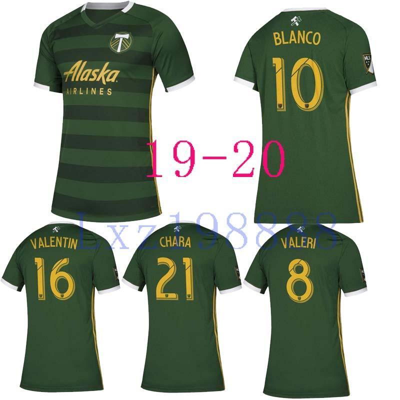 timeless design 817db ceaca New 2019 2020 Portland Timbers Home Soccer Jerseys 19 20 #8 VALERI Jersey  BLANCO Soccer Shirt #16 VALENTIN #21 CHARA Football Uniform