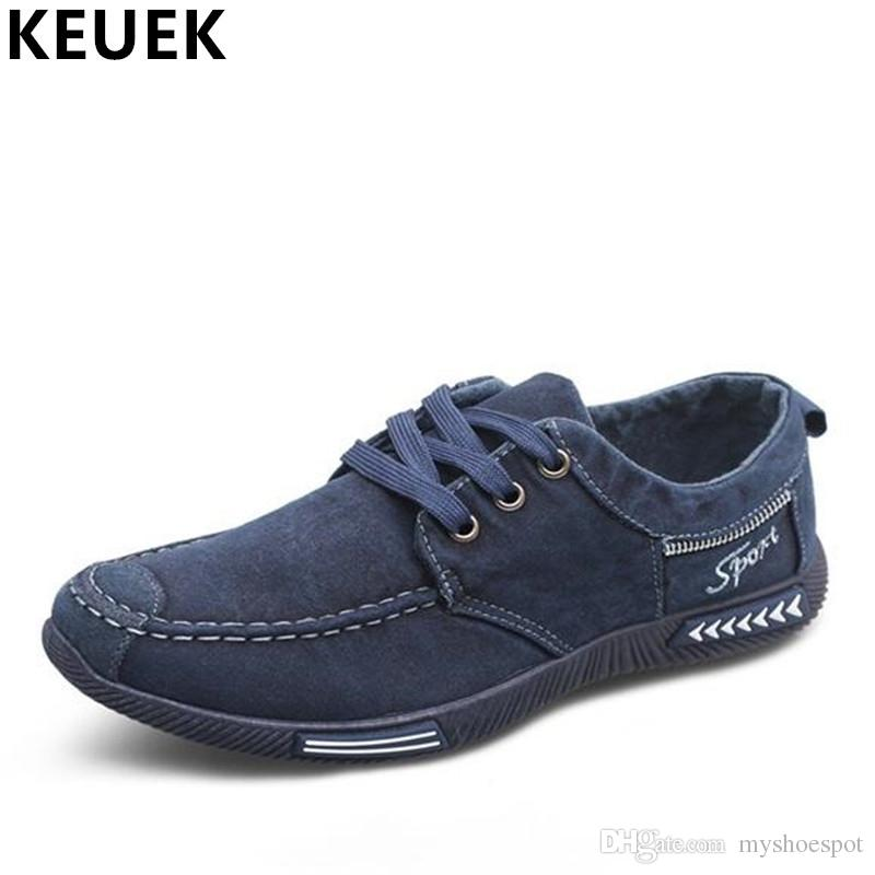 32b8d40aa0f04 Male Cloth Shoes Breathable Men Sneakers Canvas Shoes Lace Up Flats Casual  Chaussure Homme Loafers 02C  331346 Cheap Shoes For Men Purple Shoes From  ...