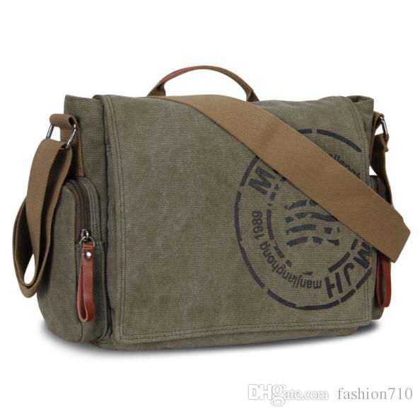 7d66d315dc15 Vintage Men s Messenger Bag Man Handbag Canvas Shoulder Postman Bag Men  Casual Crossbody Printing Messenger Bags Handbag Man Handbag Postman Bag  Online with ...