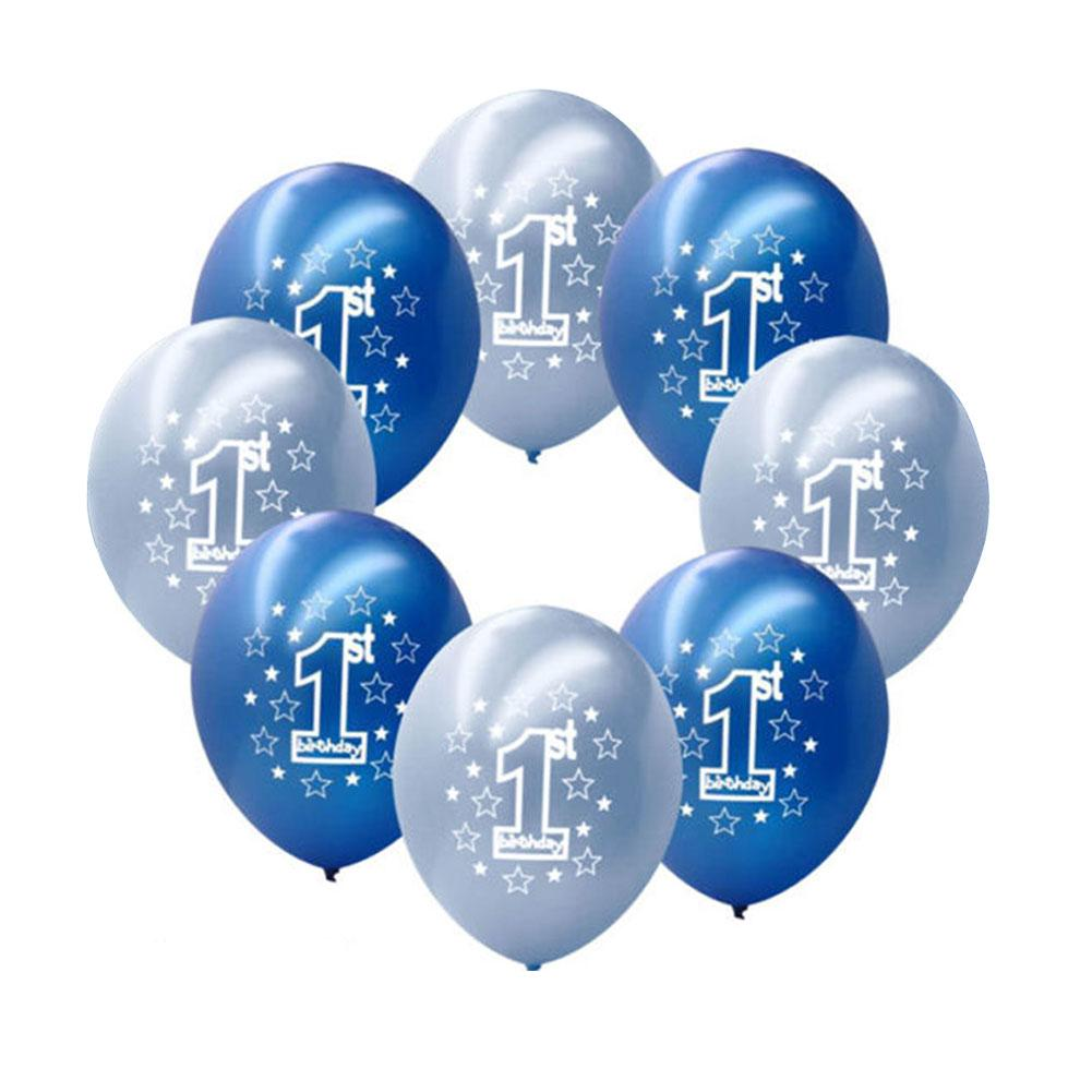 1 Year Old Baby Shower Birthday Number Foil Balloons Boy Girl Star Latex Balloon Kids Party DIY Decorations Children S Supplies