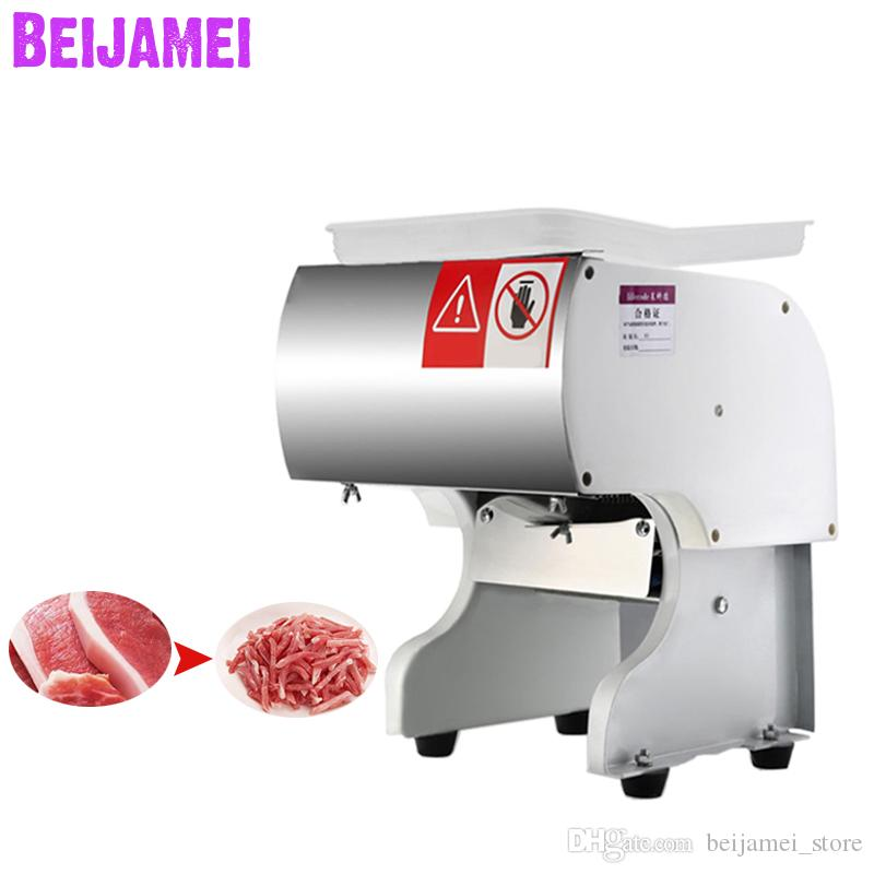 BEIJAMEI High Quality Meat Cutting Slicing Machine Commercial Pork Beef Meat Slicer Shredder Machine For Sale