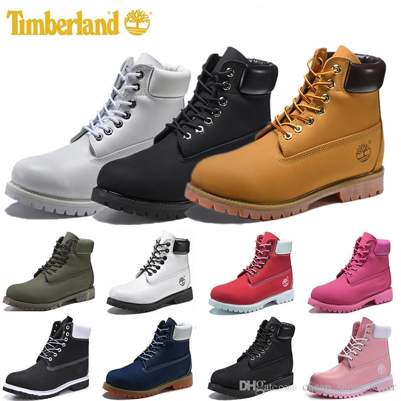 2019 Wholesale TimberlandBoots Luxury Men Women Casual Shoes Chestnut Black White Snow Winter Outdoor Sneakers Mens Trainers Boot Size 36 45 From