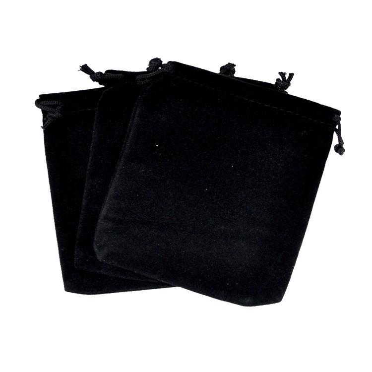 Black Velvet Bags 10x12cm Small Jewelry Pouch Bag Drawable Wedding Christmas Gift Bags Charms Bracelet Packaging Bag