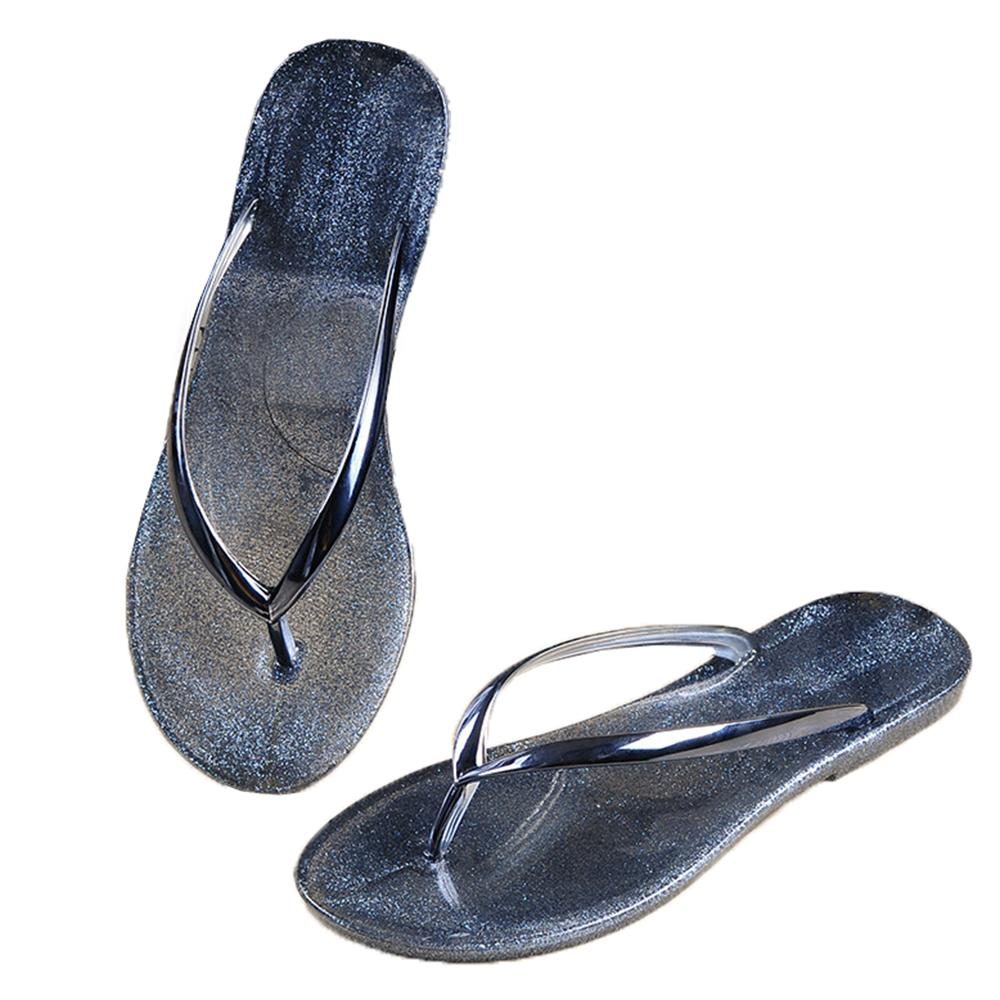 8b08dd52a8c3eb Fashion Women Flip Flop Sandals Open Toe Jelly Shoes Dry Quickly Beach  Summer Thong Slippers Silver Clear Neutral Comfortable Silver Sandals Gold  Sandals ...
