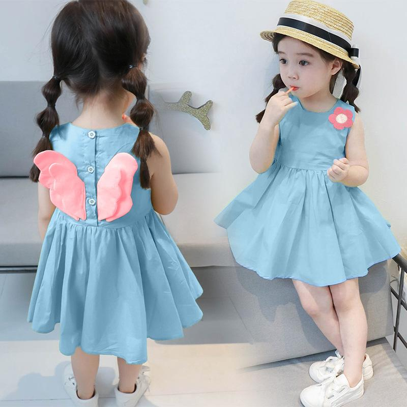 54cb4f82981 2019 New Arrival Summer Baby Girl Dress Floral Cotton Pretty Little Angel A  Line Princess Dress Girl Infant Toddler UK 2019 From Benedicty