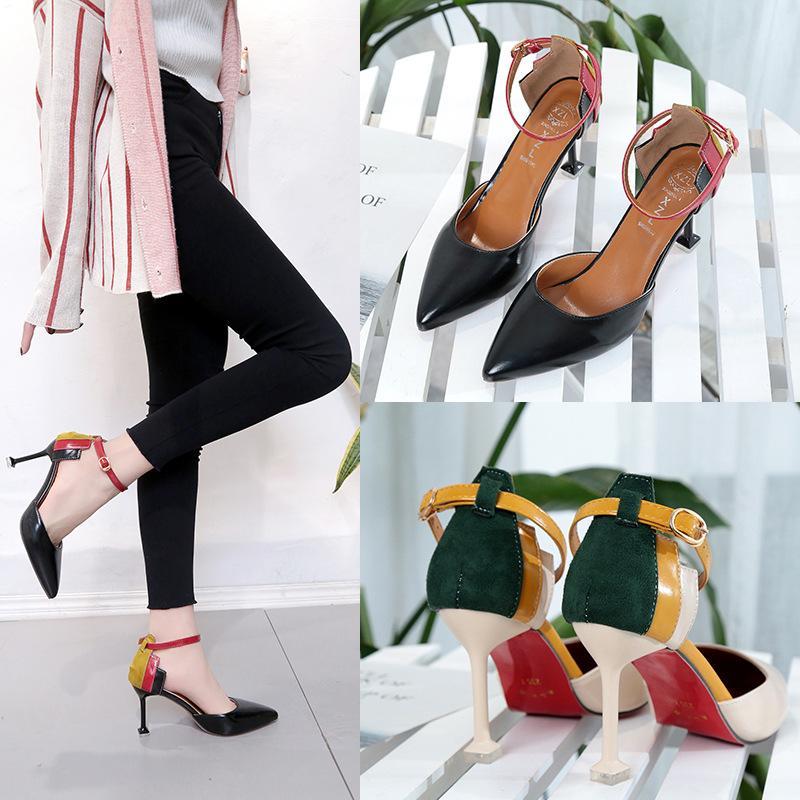 6779039473 Compre Sapatos De Mulher Das Mulheres Tamancos De Couro Baixos Saltos  Fivela Cinta Stilettos Senhoras Bombas 2018 Formal Festa Rodada Arco  Designer De Alta ...
