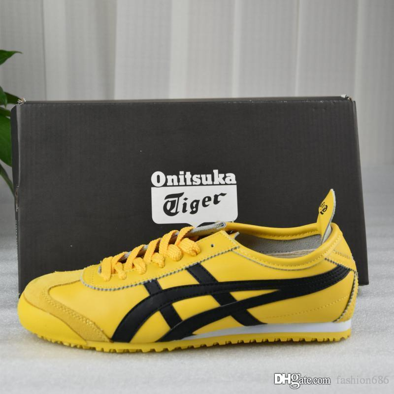 new styles a6eb0 88727 2019 MEXICO66 Originals Onitsuka Tiger Weaving Net surface Bruce Lee Yellow  New Color Lightweight Sports Sneakers