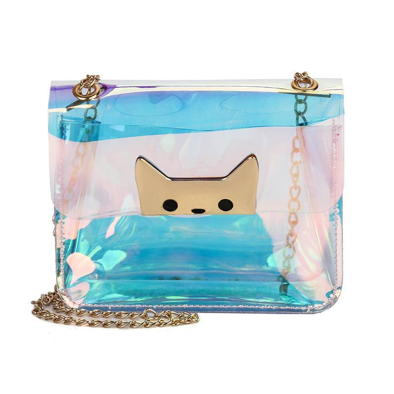 Luggage & Bags Women Transparent Handbags Small Crossbody Messenger Bags Chain Laser Shoulder Bags Female Clear Bags For Women 2019
